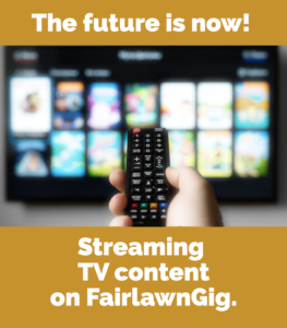 Stream Sling TV on FairlawnGig
