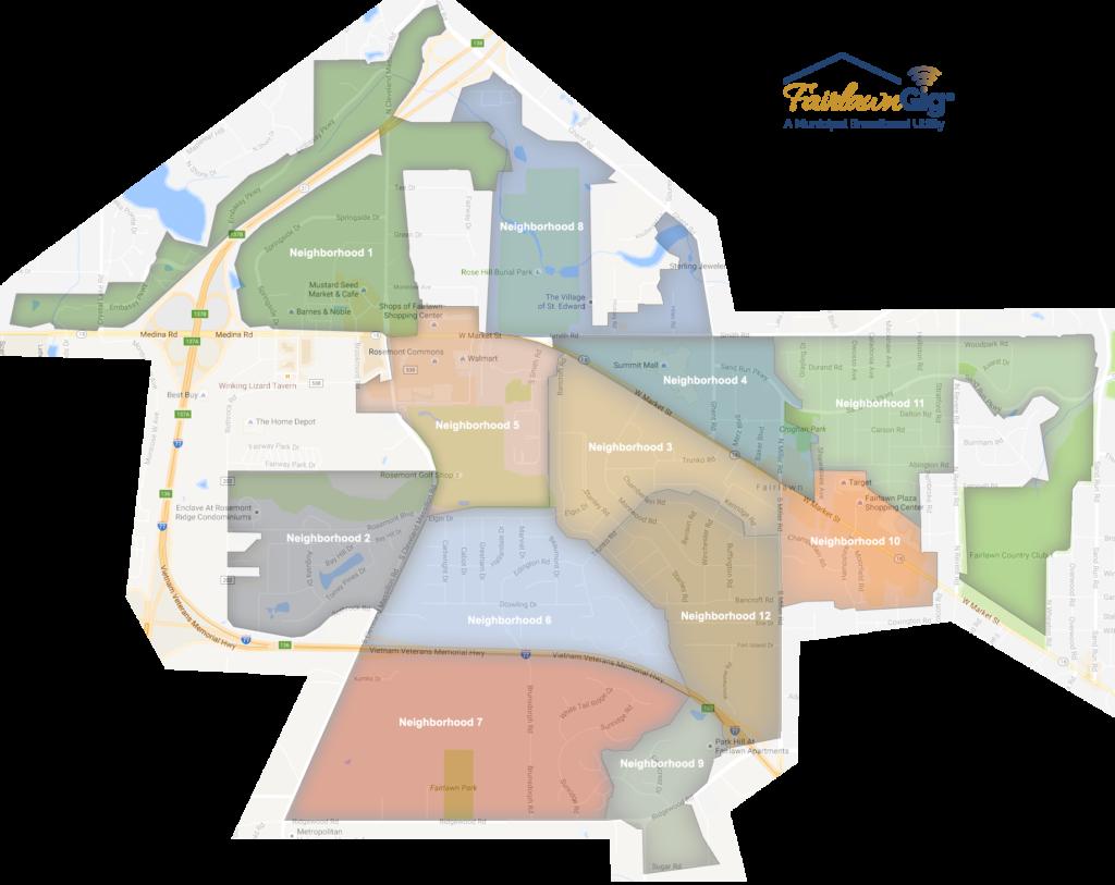 FairlawnGig Service Map
