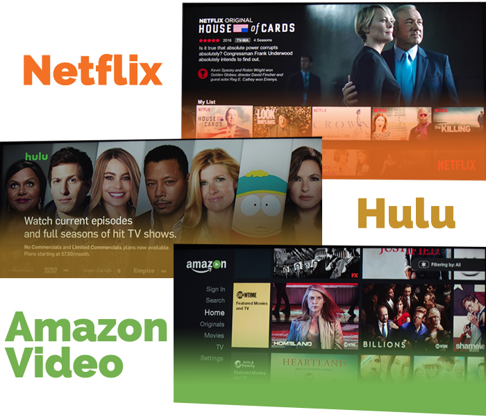 streaming netflix, hulu, and amazon video on fairlawngig