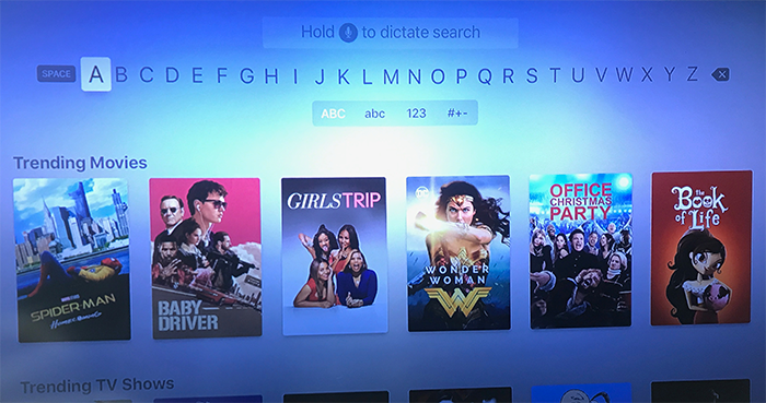 apple tv siri search